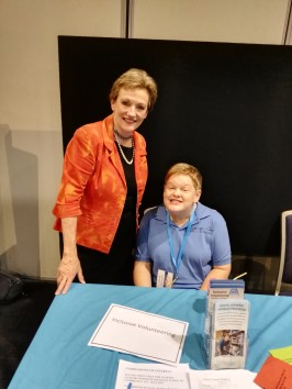 Melissa with Jane Prentice (The Assistant Minister for Disabilities)